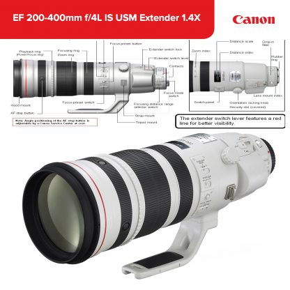 hire Canon EF 200-400mm f/4 L IS USM 1.4TC