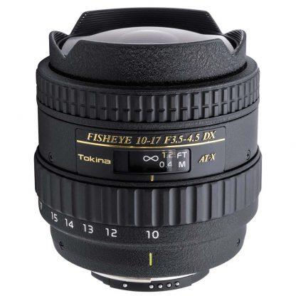Tokina 10-17mm f/3.5-4.5 Fisheye (Nikon-Crop) Lens hire